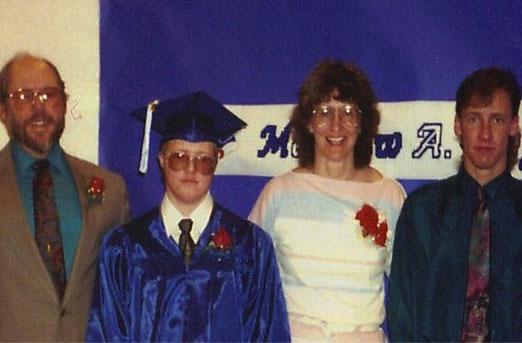 Eggleston family celebrating Matthew's High School graduation